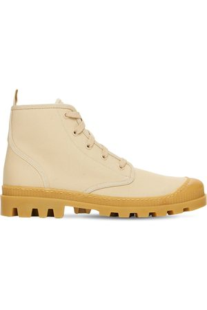 GIA Women Boots - 20mm Cotton Canvas Combat Boots