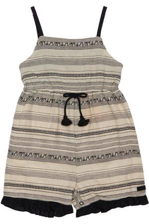 YELLOWSUB Cotton & Linen Jacquard Jumpsuit