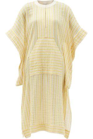 ZEUS+DIONE Women Midi Dresses - Calyx Striped Cotton-blend Midi Kaftan Dress - Womens