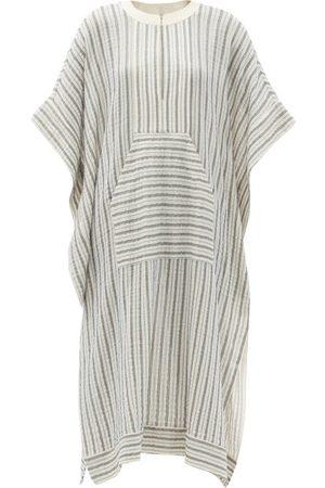 ZEUS+DIONE Calyx Striped Cotton-blend Midi Kaftan Dress - Womens