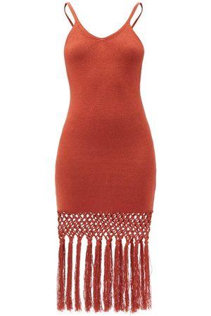 JoosTricot Tasselled Linen-blend Jersey Dress - Womens