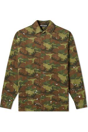 Palm Angels Men Casual - Camo Paint Splatter Overshirt