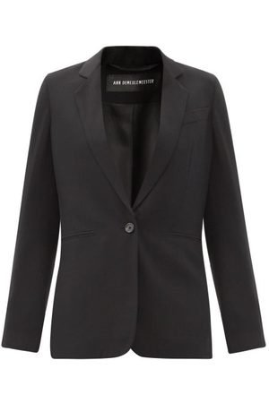 ANN DEMEULEMEESTER Women Blazers - Single-breasted Fleecewool-twill Jacket - Womens