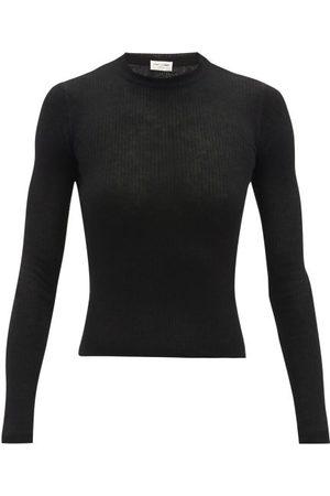 Saint Laurent Fine-knit Long-sleeved Top - Womens