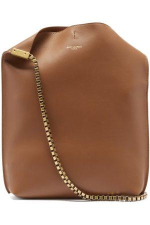 Saint Laurent Suzanne Small Chain-strap Leather Shoulder Bag - Womens - Dark Tan