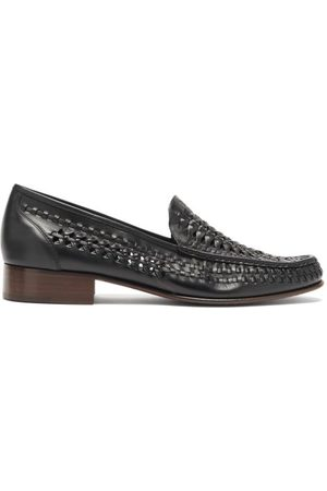Saint Laurent Men Loafers - Swann Moccasin Leather Loafers - Mens