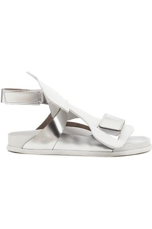 Birkenstock Men Sandals - Bukarest Metallic-leather Sandals - Mens