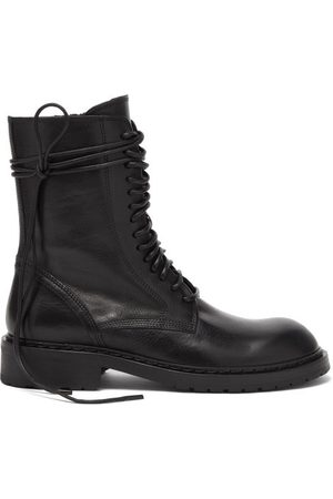 ANN DEMEULEMEESTER Women Ankle Boots - Lace-up Leather Boots - Womens