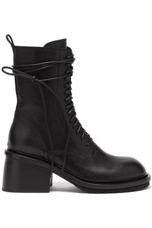 ANN DEMEULEMEESTER Block-heel Leather Boots - Womens
