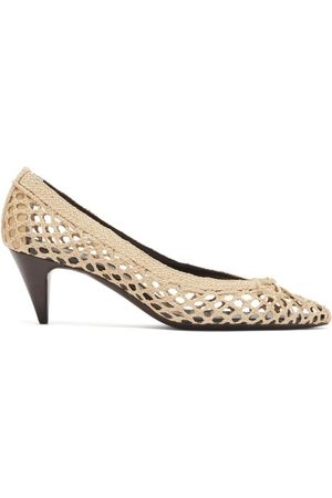 Saint Laurent Women Pumps - Kim Cone-heel Raffia Pumps - Womens