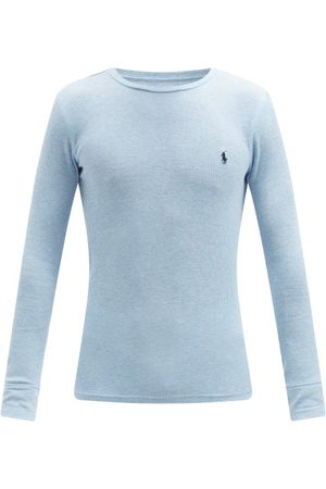 Polo Ralph Lauren Men Pajamas - Logo-embroidered Cotton-blend Pyjama Top - Mens - Light