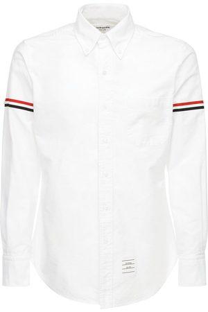 Thom Browne Cotton Oxford Shirt W/ Striped Arm Bands