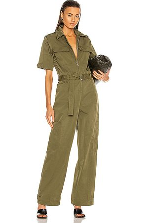 Helmut Lang Utility Jumpsuit in Army