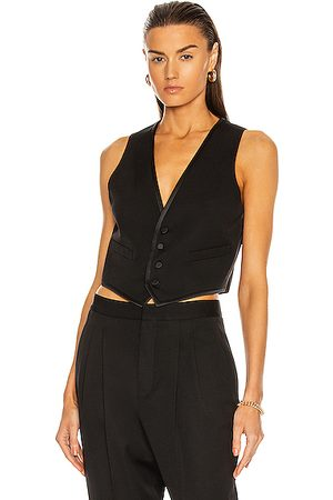 Saint Laurent Waistcoat Top in