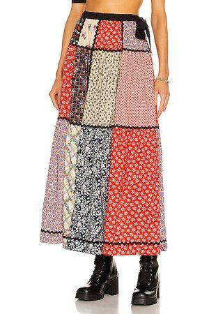 Miu Miu Women Maxi Skirts - Long Patchwork Skirt in