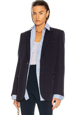 WARDROBE.NYC Single Breasted Blazer in Navy