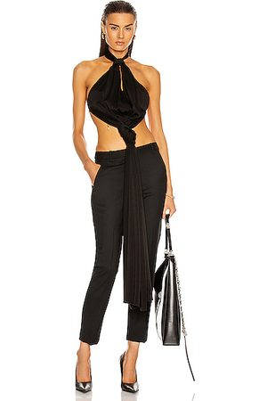 Givenchy Open Back Chain Knotted Halter Top in