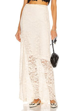Paco rabanne Lace Maxi Skirt in Ivory