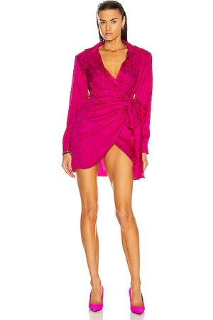 DANIELE CARLOTTA Women Asymmetrical Dresses - Asymmetric Jacquard Bow Mini Dress in