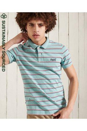 Superdry Men Polo Shirts - Organic Cotton Vintage Feeder Stripe Polo Shirt