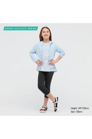 UNIQLO Girls Leggings - Girl's Airism Uv Protection Cropped Leggings, , 3-4Y