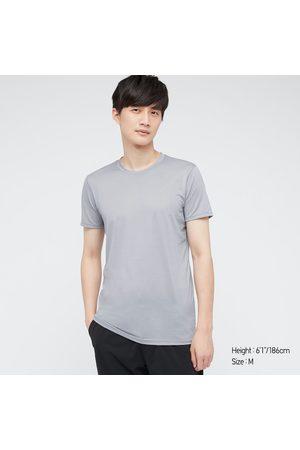 UNIQLO Men's Airism Crew Neck Short-Sleeve T-Shirt, Gray, XS
