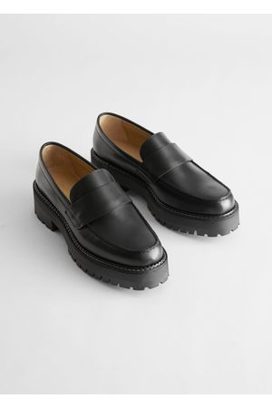 & OTHER STORIES Chunky Leather Penny Loafers