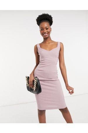 Vesper Body-conscious midi dress in rose taupe
