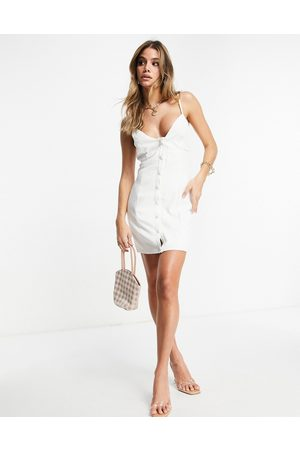 Club L Sleeveless cami button up mini dress in ivory