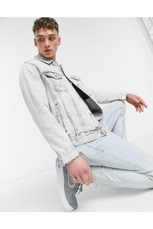 Bershka Denim jacket in -Grey