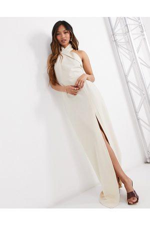 Vesper Women Halterneck Dresses - Halterneck maxi dress with side split in