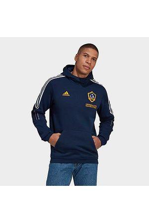 adidas Men's LA Galaxy Travel Hoodie in /Collegiate Navy Size Small Fleece