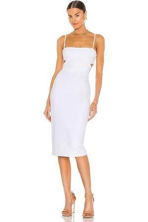 Susana Monaco Cutout Strap Solid Dress in White.