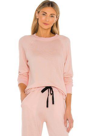 Splits59 Warm Up Fleece Sweatshirt in Blush.