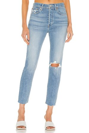 RE/DONE 90s High Rise Ankle Crop in .