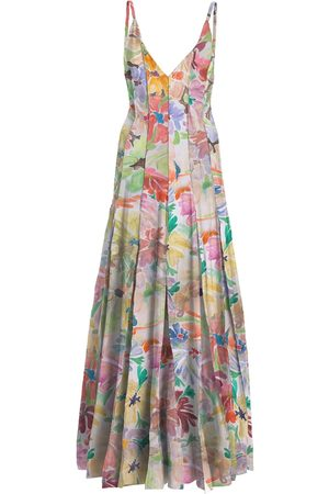 Rosie Assoulin Printed Stretch Viscose Long Dress
