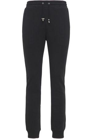 Balmain Men Sweatpants - Logo Badge Print Jersey Sweatpants