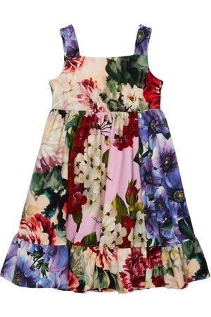 Dolce & Gabbana Flower Print Cotton Interlock Dress