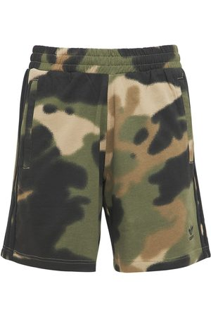 adidas Camo 3 Stripes Cotton Sweat Shorts