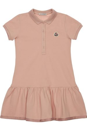 Moncler Girls Casual Dresses - Cotton Polo Shirt Dress