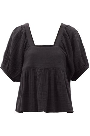 Anaak Bridgette Square-neck Cotton Top - Womens