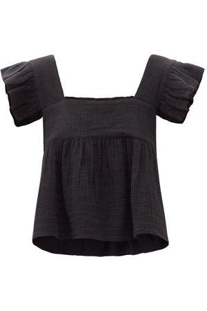 Anaak Cassi Ruffled-strap Cotton Top - Womens