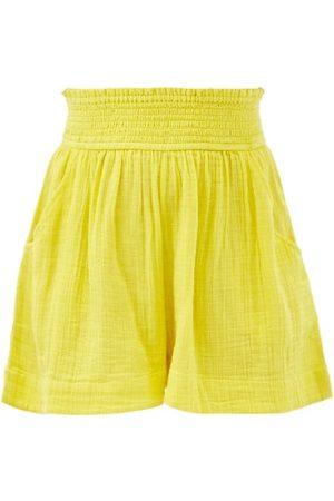 Anaak Adrian Elasticated-waist Cotton Shorts - Womens