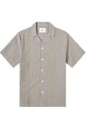 Folk Men Shirts - Gingham Soft Collar Vacation Shirt