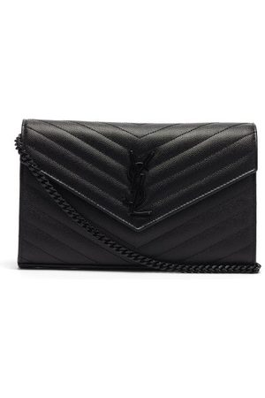 Saint Laurent Ysl-monogram Quilted-leather Cross-body Bag - Womens