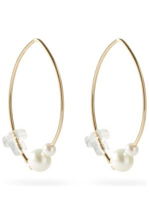 Mizuki Pearl & 14kt Gold Hook Earrings - Womens - Pearl