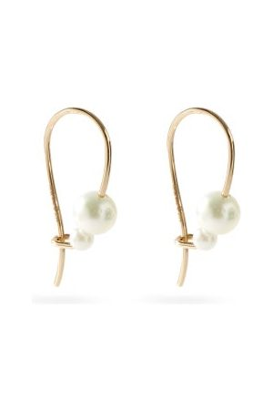 Mizuki Akoya-pearl & 14kt Gold Hook Earrings - Womens - Pearl