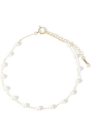 Mizuki Floating Pearl 14kt Gold Anklet - Womens - Pearl