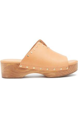 Ancient Greek Sandals Sagini Leather Clogs - Womens - Tan