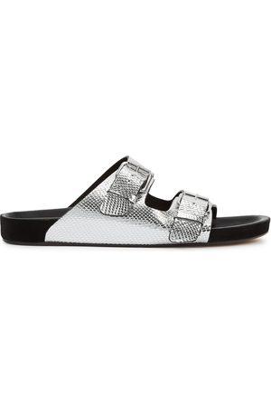 Isabel Marant Women Sandals - Lennyo python-effect leather sliders